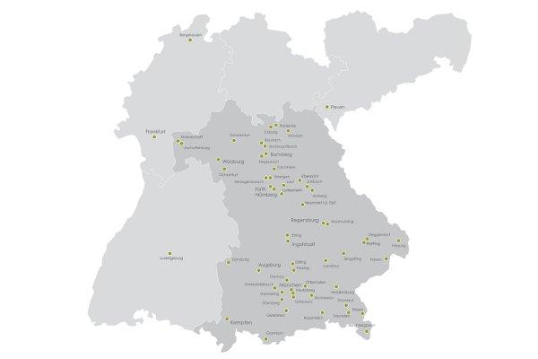 Karte Betoninstandsetzung