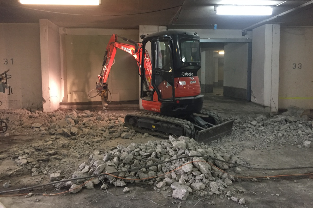 Betoninstandsetzung Tiefgarage Schweinfurt