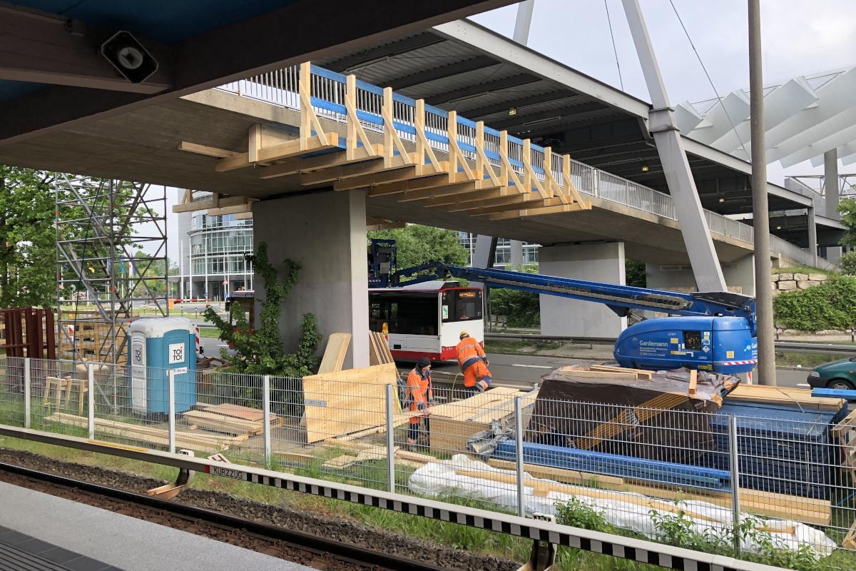 Betoninstandsetzung Zugangsbrücken U-Bahnhof Nürnberg